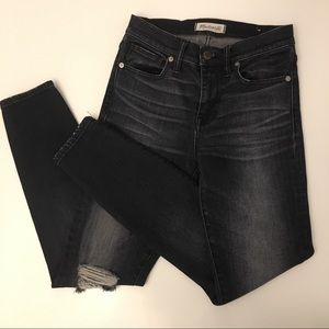 MADEWELL Gray High Riser Distressed Jeans Size 25